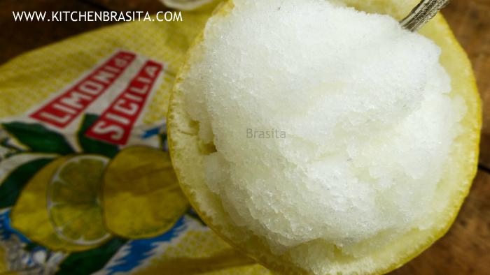 granita sorbetto limone