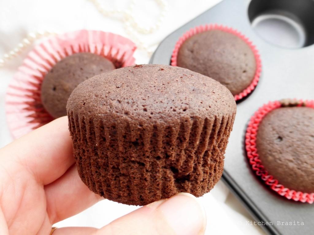 cupcake al cacao con soli albumi