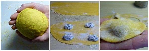ravioli gialli con tartufo e ricotta