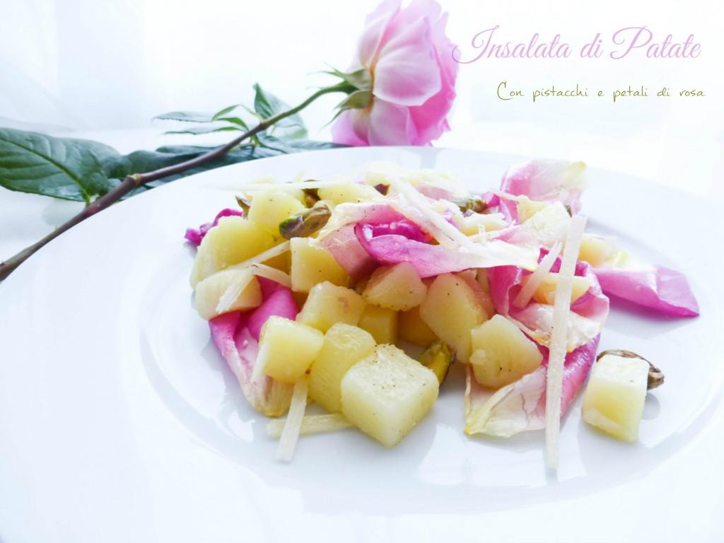 insalata di patate rose e pistacchi