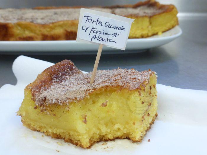 torta cremosa con farina di polenta