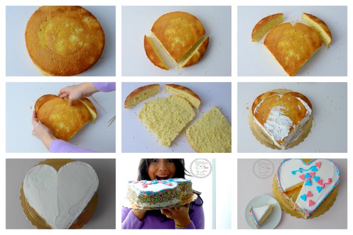 tutorial torta a cuore senza stampo
