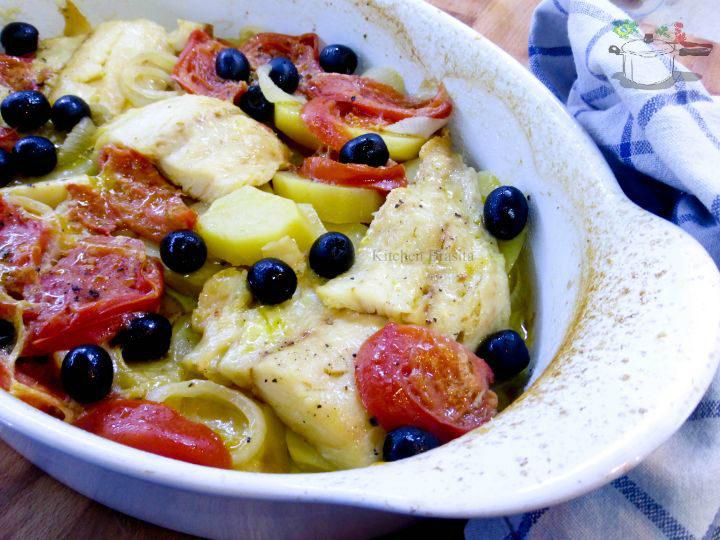 baccala al forno con patate pomodori e olive
