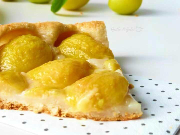 crostata senza burro con prugne gialle fresche