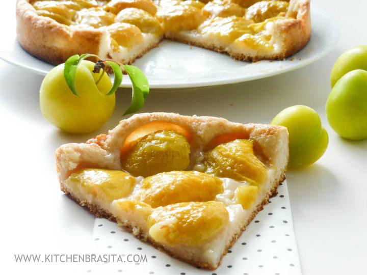 ricetta prugne gialle dolce crostata