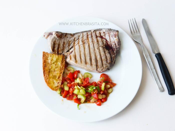 tonno fresco bistecca ricetta griglia
