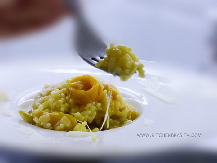 risotto peperoni cremoso giallo