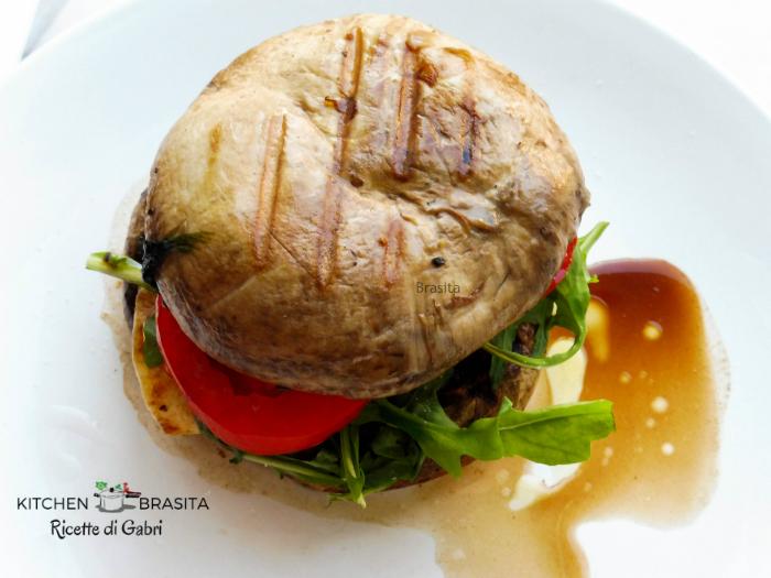 hamburger fungo vegetariano