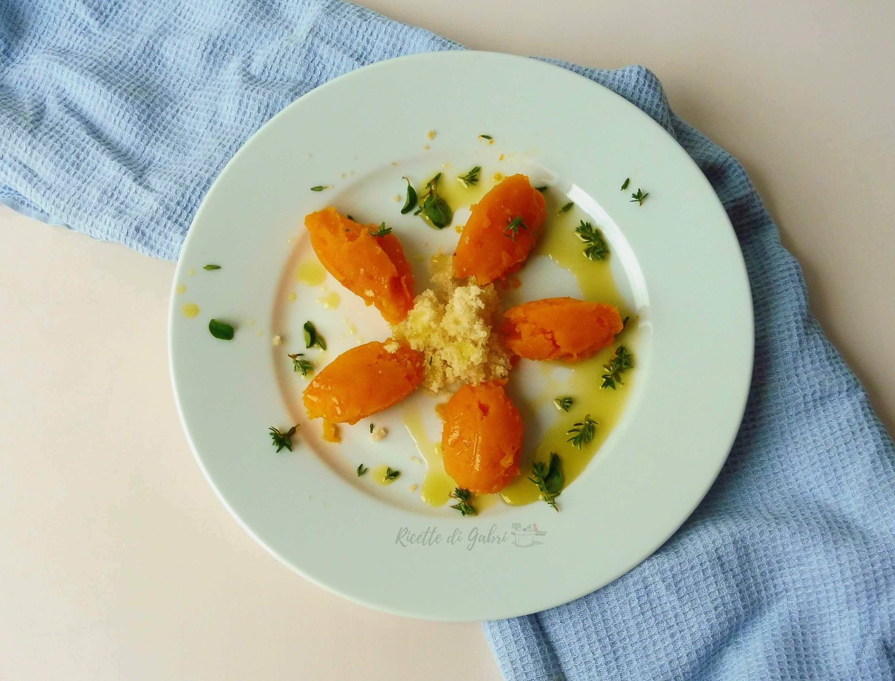 Purè di zucca super leggero ricetta facile con zucca al forno gabri