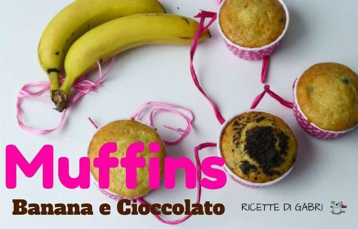 Muffins banana cioccolato facile