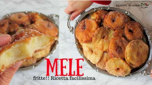 MELE fritte frittelle di mele come fare ricetta facile