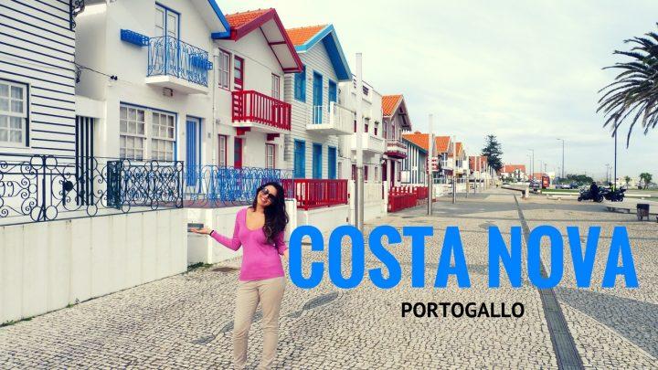 costa nova portogallo , case a righe villa di pescatori