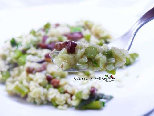 risotto asparagi epancetta buonissimo
