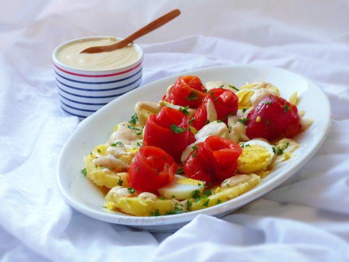 Insalata di patate tonno e peperoni, ricetta facile veloce sfiziosa