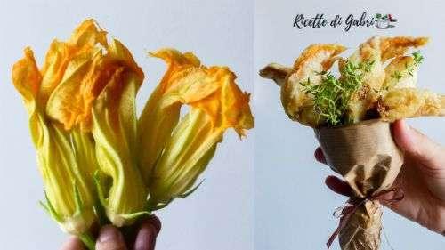 pastella per fiori di zucca fritti e croccanti