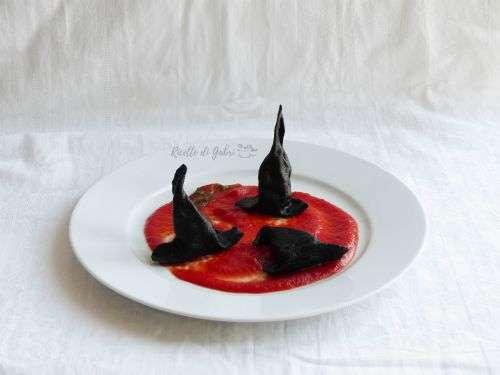 ideas halloween cappello di strega di pasta al nero di seppia