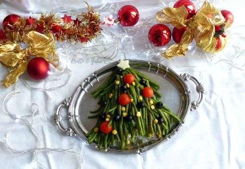 insalata russa di natale albero di fagiolini