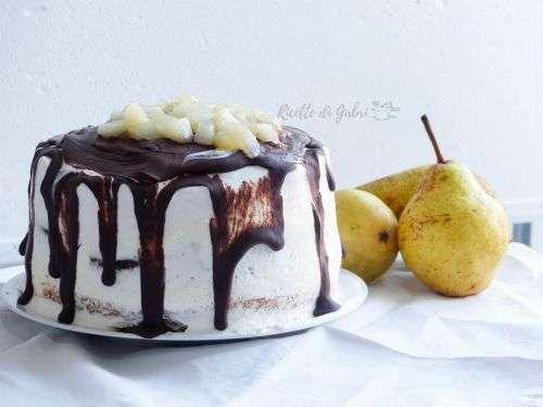 Drip cake pere cioccolato e mascarpone ricetta torta che gocciola