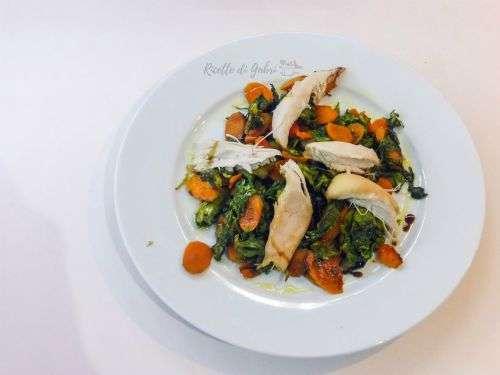 insalata cotta al forno con avanzi di pollo arrosto