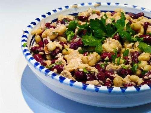 insalata fagioli e tonno