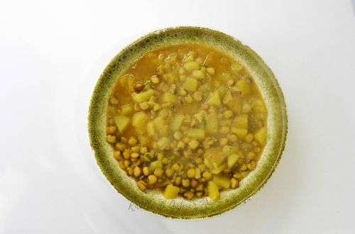zuppa di cicerchia con patate