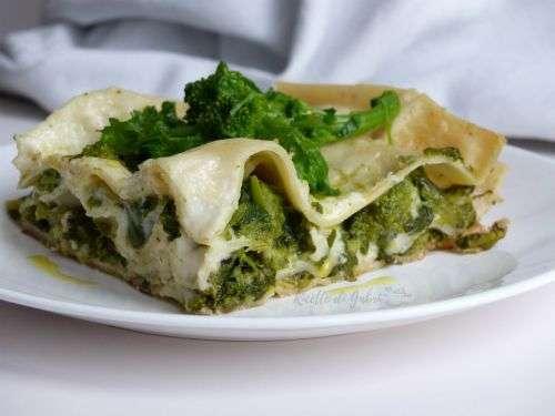 Lasagna alle cime di rapa broccoli e salsicce