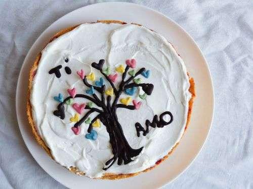 torta cuore san valentino mascarpone frutti di bosco crostata