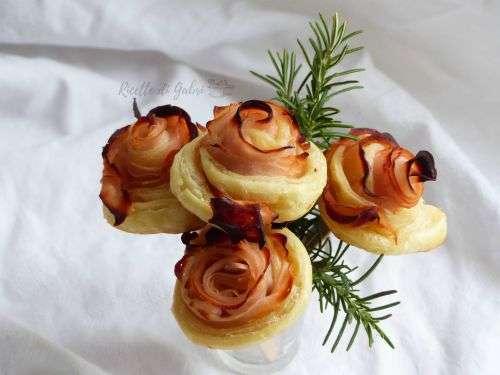 Rose di pasta sfoglia salate tacchino prosciutto cotto sfoglia