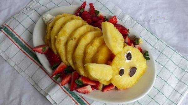 coniglietto d ananas fragole e cioccolato pasqua ricetta facile veloce