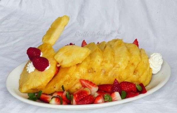 coniglietto d'ananas frutta pasqua ricette di gabri