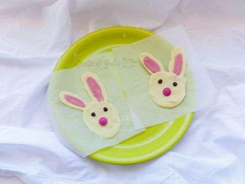decorazioni torte di pasqua coniglio di cioccolato bianco