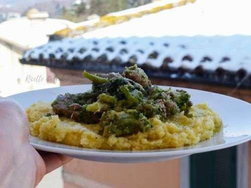 polenta ricetta facile broccoli e salsicce
