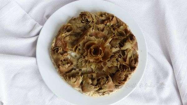 frittata di carciofi tempera verdure rosa di carciofi