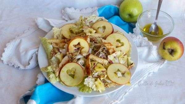 ricette radicchio variegato insalata di pollo mele e radicchio