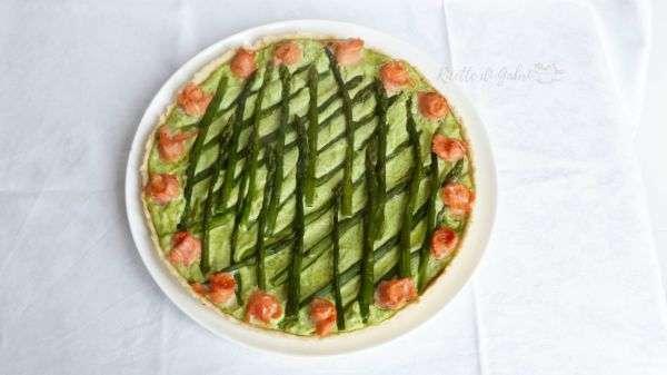 torta salata asparagi e salmone crostata salata agli asparagi senza uova