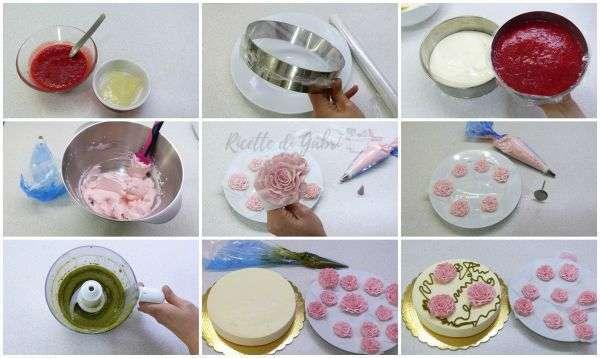 rose di panna per devcorare torte fragole mascarpone