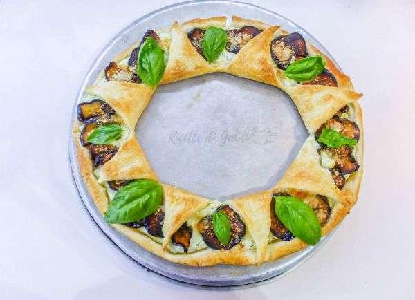 torta salata melanzane e ricotta ciambella di sfoglia salata