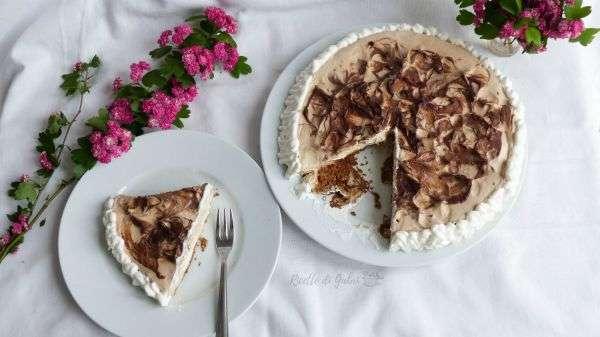 Torta fredda al caffè senza cottura crema mascarpone senza uova