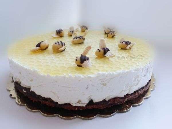 cheesecake mascarpone senza cottura ricotta pere torta alveare nido d'ape