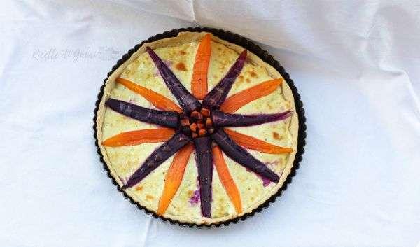 torta salata di carote viola e arancioni ricette carote