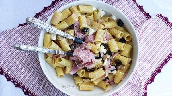 pasta fredda cotto e mozzarella