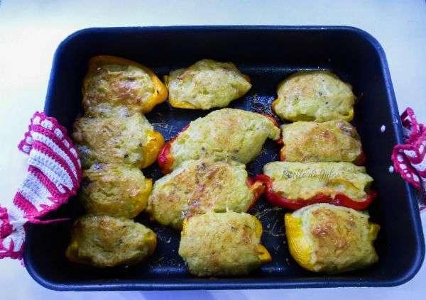 peperoni ripieni di patate e gorgonzola piccante