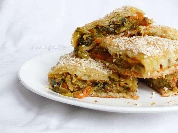 Torta di pasta fillo e verdure