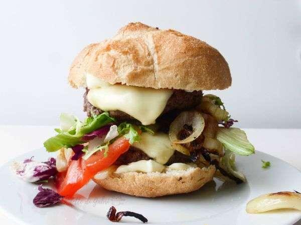 er panino dello zozzone hamburger fatto in casa