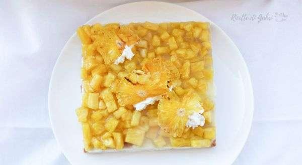 torta all'ananas senza cottura