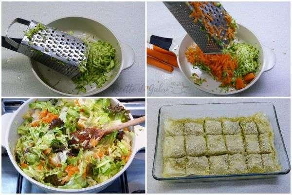 verdure e pasta fillo torta facile e veloce
