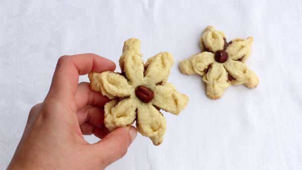 fiori di pasta frolla e nutella morbida biscotti alla nutella facili