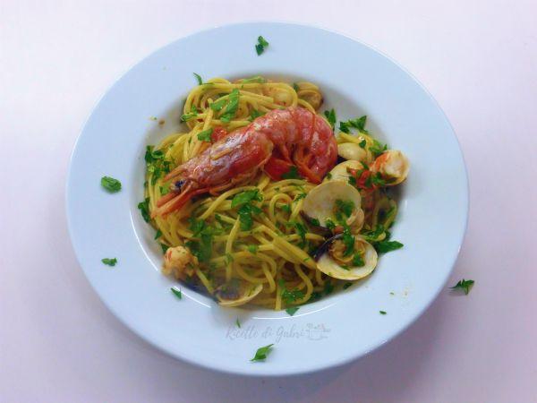 Spaghetti vongole e gamberi