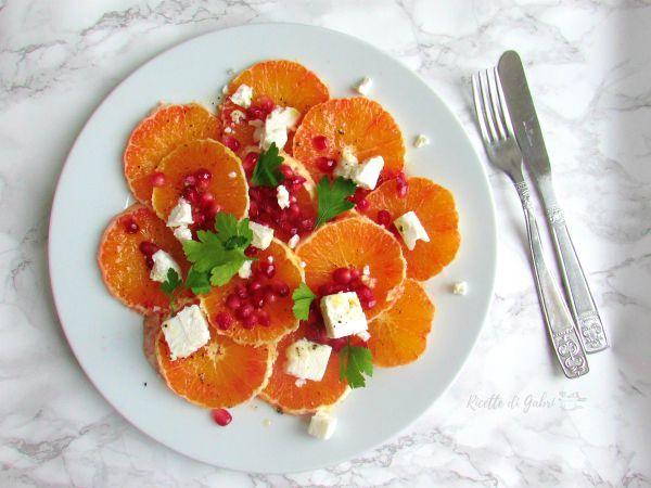 insalata invernale arance e melograno