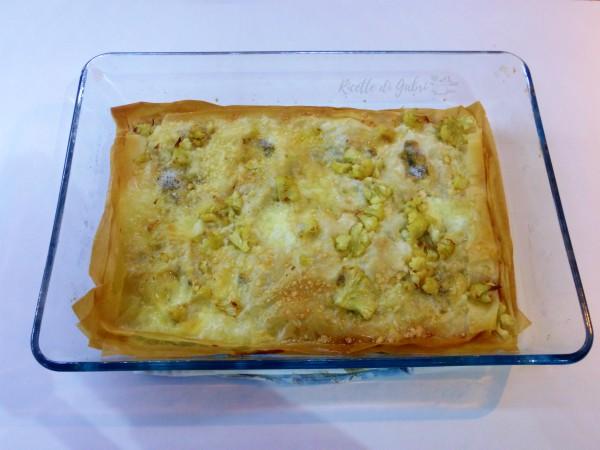 torta salata cavolfiore e gorgonzola pasta filo